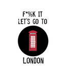 Let's Go to London Prints by Jan Weiss
