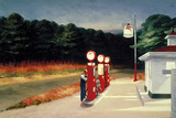 Edward Hopper - Gas, 1940 - Reprodüksiyon
