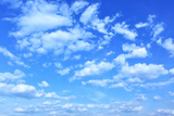 Blue Sky with Clouds, May Be Used as Background Photographic Print by  Zoom-zoom