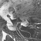 Billy Idol - Whiplash Smile Inner Sleeve 1986 Photo af Epic Rights