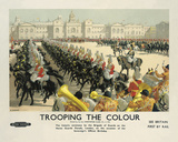Trooping the Colour Giclee Print by  The Vintage Collection