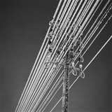 L'Alpe-d'Huez, givre sur des fils téléphoniques Photographic Print by  Feher