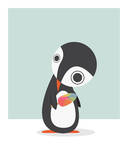 Pingu Loves Ice Cream Posters by Volkan Dalyan