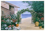 Seaside Trellis Prints by Diane Romanello