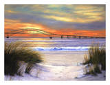 Sunset over Robert Moses Prints by Diane Romanello