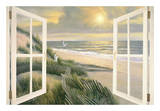 Morning Meditation with Windows Print by Diane Romanello