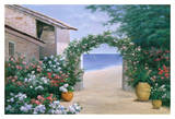 Seaside Trellis Poster by Diane Romanello