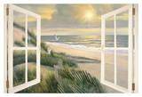 Morning Meditation with Windows Affiche par Diane Romanello