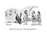 """We have to move out—I just sold a painting."" - New Yorker Cartoon Premium Giclee Print by John Klossner"