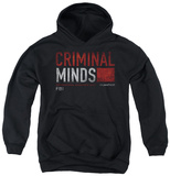 Youth Hoodie: Criminal Minds - Title Card Pullover Hoodie