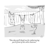 """One day you'll thank me for embarrassing you in front of the entire Inter…"" - New Yorker Cartoon Premium Giclee Print by Farley Katz"