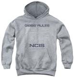 Youth Hoodie: NCIS - Gibbs Rules Pullover Hoodie