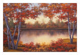 Red and Gold Prints by Diane Romanello