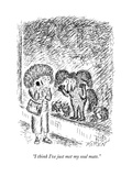 """I think I've just met my soul mate."" - New Yorker Cartoon Premium Giclee Print by Edward Koren"