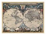 Nova et Accuratissima Totius Terrarum Orbis Tabula Posters by Joan Blaeu