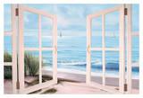 Sandpiper Beach Door Posters par Diane Romanello