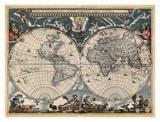 Nova et Accuratissima Totius Terrarum Orbis Tabula Prints by Joan Blaeu