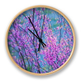 Redbud River Abstract Clock by Vincent James