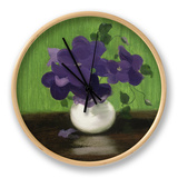 Violets, c.1900 Clock by James Stuart Park