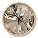 Three White Roses Clock by Robert Cattan