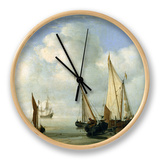 Calm Sea. C.1650 Clock by Willem Van De, The Younger Velde