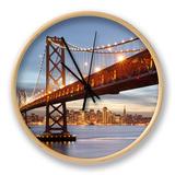 Bay Bridge, San Francisco, Califonia, USA Clock by Patrick Smith