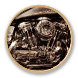 V-Twin Motorcyle Engine Horloge par Stephen Arens
