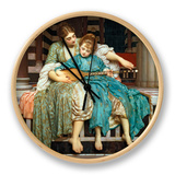 The Music Lesson, 1877 Clock by Frederick Leighton