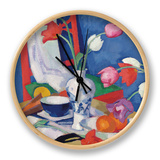 Red Chair and Tulips, c.1919 Clock by Samuel John Peploe