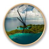 Aerial View of Rock Islands of Palau, Micronesia Clock by Michel Benoy Westmorland