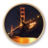 Golden Gate Bridge Retro View Clock by Vincent James