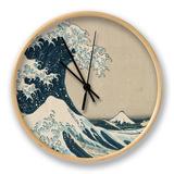 De grote golf van Kanagawa, uit de reeks: 36 uitzichten op de berg Fuji Klok van Katsushika Hokusai