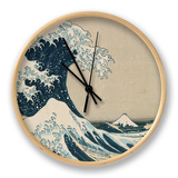 """Die große Welle von Kanagawa, aus der Serie """"36 Ansichten des Berges Fuji"""" (""""Fugaku sanjuokkei"""") Uhr von Katsushika Hokusai"""