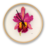 Cattleya Gladiator gx (Cattleya dowiana × Cattleya Gladys) Clock by Nellie Roberts