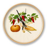 Capsicum annuum, Musa × paradisiaca and Pyrus pyrifolia Clock by  Wang Lui Chi