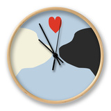 Blue Puppy Love Horloge par  Avalisa