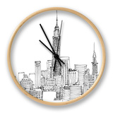 New York Skyline Crop Clock by Avery Tillmon