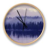 Purple Morning Mist Clock by Vincent James