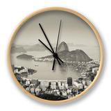 Brazil, Rio De Janeiro, Sugar Loaf (Pao De Acucar) and Morro De Urca in Botafogo Bay Clock by Alex Robinson