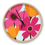 Spring Blooms I Clock by N. Harbick