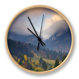 Rock of the King, Piatra Craiului National Park, Transylvania, Carpathian Mountains, Romania Clock by  Dörr