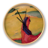 Horse in a Landscape, 1910 Clock by Franz Marc