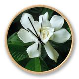 Gardenia or Cape Jasmine Flower (Gardenia Jasminoides) Clock by David Sieren