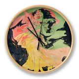 Folies Bergeres: Loie Fuller, France, 1897 Clock by Jules Chéret