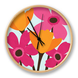 Spring Blooms II Clock by N. Harbick