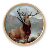Monarch of the Glen, 1851 Clock by Edwin Henry Landseer