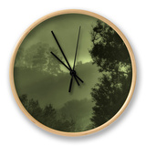 Trees in the Mist Clock by Vincent James