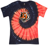 Juniors: Bengals Spiral V Ladies Womens V-Necks