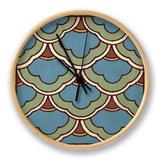 Tile Pattern II Clock by N. Harbick