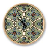 Tile Pattern I Clock by N. Harbick